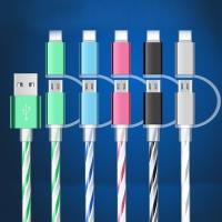 Кабель универсальный 2в1 micro-USB + iPhone 5/6 с подсветкой