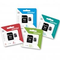 Micro SDHC карты памяти SmartBuy (с адаптером)